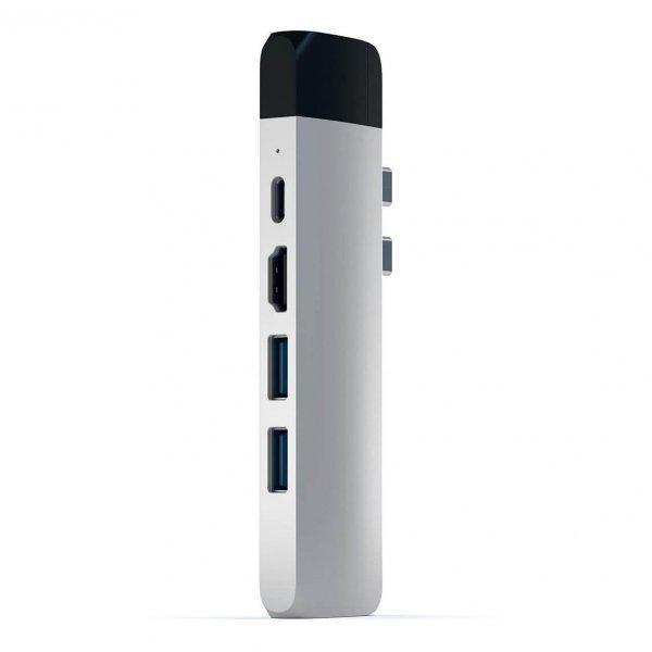 Satechi USB-C PRO HUB Ethernet - 2xUSB 3.0 / Ethernet / HDMI / USB-C / microSD / Silver (srebrny)