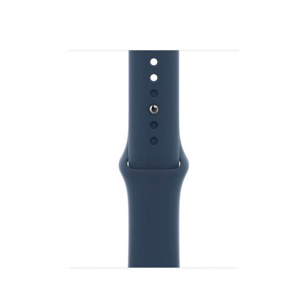 Apple Watch SE 40mm GPS + Cellular Aluminium w kolorze srebrnym z paskiem sportowym w kolorze błękitnej toni