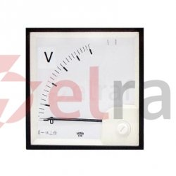 Woltomierz analogowy 96x96 500V KL.1,5 IP52 VAE0960151000