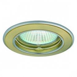 Oczko halogenowe 12V MR16 GU5,3 50W odlewane, nieregulowane, satynowy złoty/ nikiel AXL 5514 PO16P-SG/N GXPL020