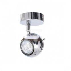 Oprawa 1x50W 230V GU10 z żarówką fi80mm chrom OSCAR-1