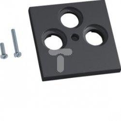 Płytka centralna BK/Sat 3-krotna ABS bezhalogenowe (HFR) grafit GZSAT39011