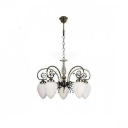 Żyrandol BOSSA 5xE14 60W patyna/biały 5940511
