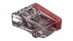 Szybkozłączka 2x1,5-2,5mm2 transparentna PC2252-CL 89021000 /100szt./