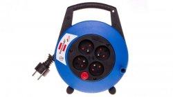 Przedłużacz zwijany kompaktowy Vario Line 4x230V 5m czarno-niebieski H05VV-F 3G1,5 19,5x24x7,5cm 1092234