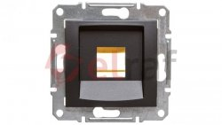 SEDNA Płytka centralna pojedyncza pod wkład komputerowy RJ45 SYSTIMAX grafitowa SDN4300570