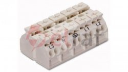 Blok zasilający 5P biały 862-605  /200szt./