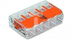 Szybkozłączka 5x0,2-4mm2 transparentna / pomarańczowa 221-415 /25szt./
