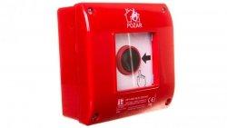 Przycisk ppoż. natynkowy 2Z 1R czerwony OP1-W01-B-21-230VAC