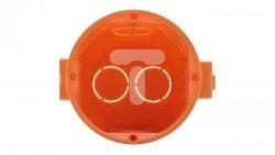 Puszka p/t 60mm łączeniowa głęboka pomarańczowa 302580