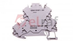 Złączka 2-piętrowa 2,5mm2 diodowa szara TOPJOBS 2002-2213/1000-487