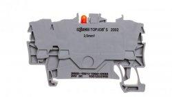 Złączka szynowa 3-przewodowa 2,5mm2 z LED szara TOPJOBS 2002-1321/1000-434