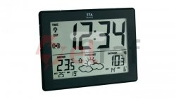 Stacja pogodowa -40-60°C bateria 3xAAA czarna 35.1125.01.IT