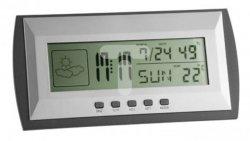 Stacja pogodowa cyfrowa -10-50°C, wilgotność 20-90% 1xAAA srebrna 35.1065