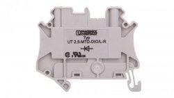 Złączka szynowa elementów kontrolnych 2-przewodowa 2,5mm2 szara UT 2,5-MTD-DIO/L-R 3064137 /50szt./
