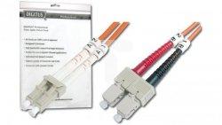 Patch cord światłowodowy LC/SC duplex MM 50/125 OM2 3m LS0H pomarańczowy DK-2532-03