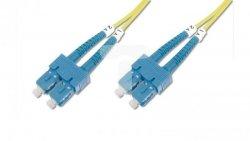 Patch cord światłowodowy SC/SC duplex SM 9/125 OS2 3m LS0H żółty DK-2922-03