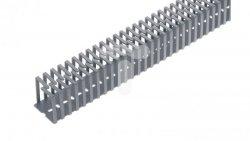 Korytko grzebieniowe elestyczne mocowane śrubami 40x40x500 szare /0.5m/ EC23406