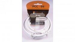 Przewód koncentryczny RG6 0,8/4,8 PCC05 LIBOX /5m/