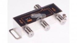 Rozdzielacz sygnału SAT splitter 1x F / 3x F Power Pass LB0038 LIBOX