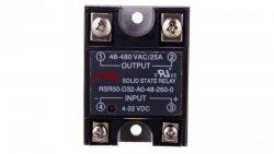 Przekaźnik półprzewodnikowy 1P 48-480VAC/25A Uster= 4-32V DC RSR50-D32-A0-48-250-0 2612028