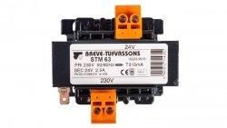 Transformator 1-fazowy STM 63VA 230/24V 16224-9916