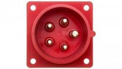 Wtyczka tablicowa 16A 5P 400V czerwona IP44 615-6