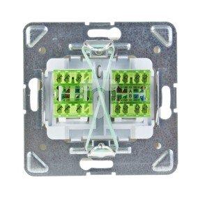 IMPRESJA Gniazdo teleinformatyczne RJ45 kat.6 + RJ11 ecru GPKT-Y/K6/m/27