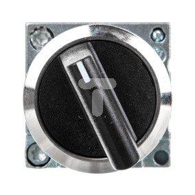 Przełacznik 2 położeniowy pokrętło 22mm czarny 1Z bez samopowrotu 3SB3602-2KA11