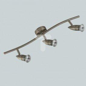 Oprawa 3x50W 230V GU10 z żarówką 560x80x150mm satyn nikiel FANNY-3 SN