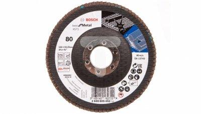 Tarcza szlifierska listkowa Best for Metal 115X80 wygięta 2608605452