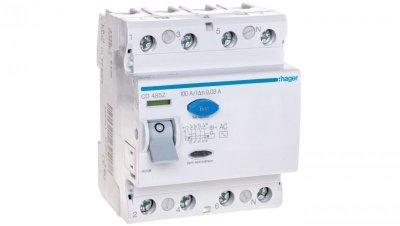 Wyłącznik różnicowoprądowy 4P 100A 0,03A typ AC CD485Z