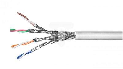 Kabel teleinformatyczny S/FTP (PiMF) kat.6 4x2xAWG27/7 CCA 93953 /100m/