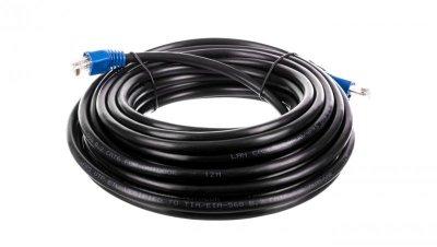 Kabel krosowy outdoor patchcord U/UTP kat.6 CCA czarny 10m 94389