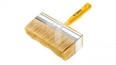 Pędzel ławkowiec plastikowy 12x3 cm do farb emulsyjnych lateksowych akrylowych bejc impregnatów lakierobejc 20B967