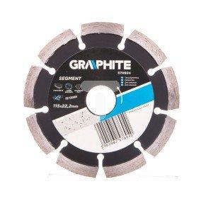 Tarcza diamentowa 115x22.2 mm segmentowa spawana laserowo segment 8x2.2 mm 57H604