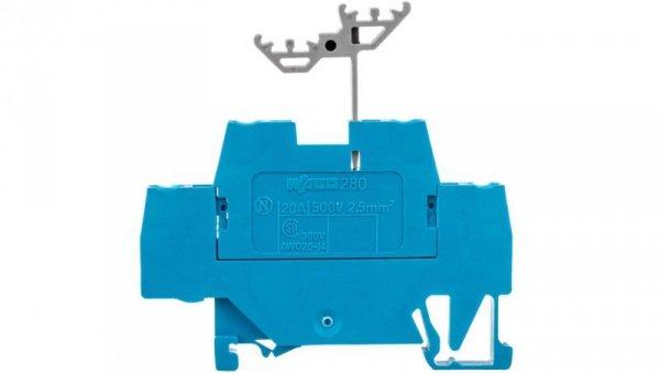 Złączka szynowa 2-piętrowa L / L 2,5mm2 niebieska 280-529  /50szt./