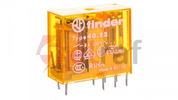 Przekaźnik miniaturowy 2P 8A 12V AC 40.52.8.012.0000