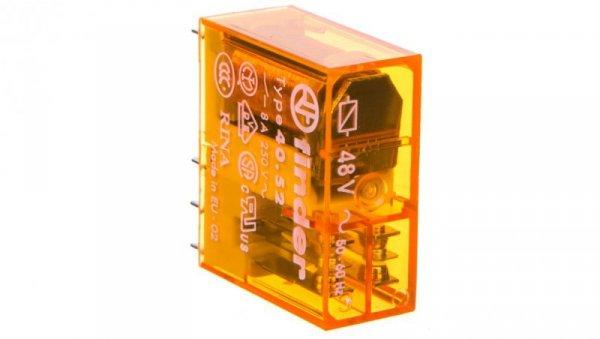 Przekaźnik miniaturowy 2P 8A 48V AC 40.52.8.048.0000