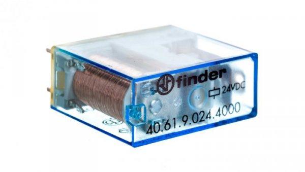Przekaźnik miniaturowy 1P 16A 24V DC, styk AgSnO2 40.61.9.024.4000