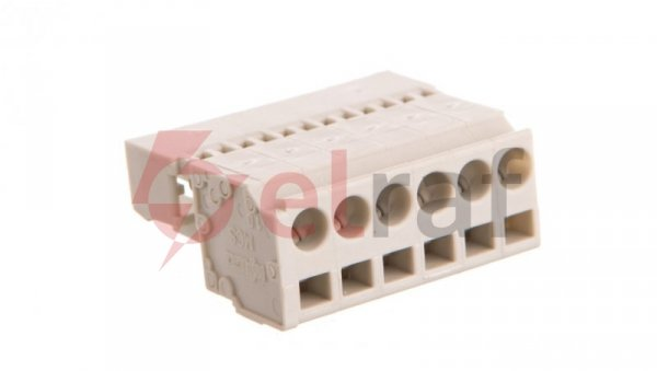 Wtyk MCS-MIDI Classic 6-biegunowy jasnoszary raster 5mm 721-606 /50szt./