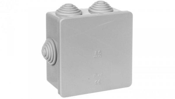 Puszka natynkowa z pokrywą i śrubami seria 400 IP44 80x80x40 EC400C3