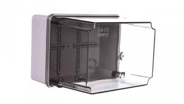 Puszka natynkowa wysoka z przeźroczystą pokrywą seria 440 IP56 150x110x140 szara EC440C5
