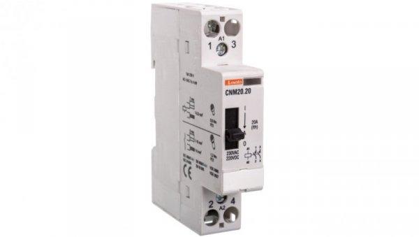 Stycznik modułowy z dźwignią 20A 2Z 0R 230-220V AC/DC CNM2020220