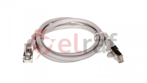 Kabel krosowy patchcord SF/UTP kat.5e CCA szary 1m 50144