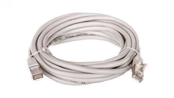 Kabel krosowy patchcord SF/UTP kat.5e CCA szary 5m 50147