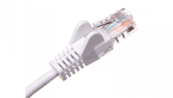 Kabel krosowy patchcord U/UTP kat.5e CCA biały 1m 68501