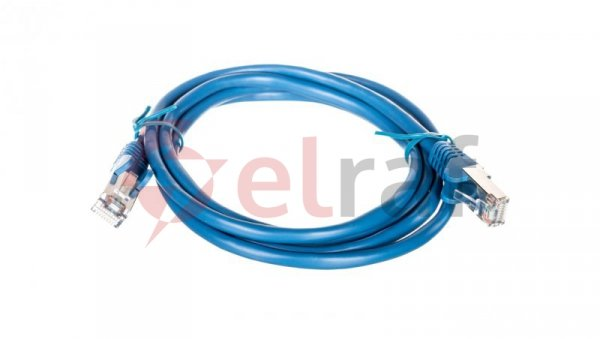 Kabel krosowy patchcord F/UTP kat.5e CCA niebieski 1,5m 95532