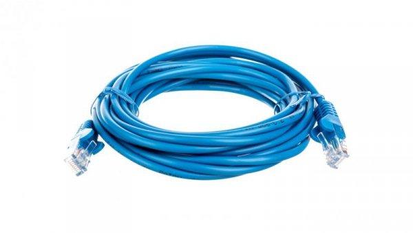 Kabel krosowy patchcord U/UTP kat.5e CCA niebieski 5m 68375