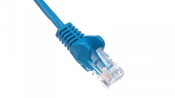 Kabel krosowy patchcord U/UTP kat.5e CCA niebieski 0,5m 68335